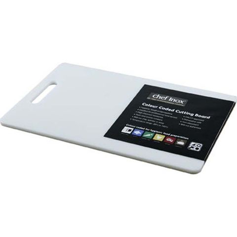 Cutting Board -PP 250x400x12mm White w/HDL
