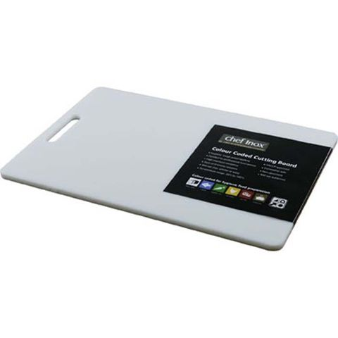 Cutting Board -PP 300x450x12mm White w/HDL