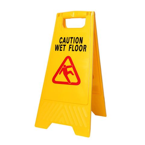 """24"""" High Visibility A-Frame Yellow 'Caution Wet Floor' Warning Sign"""