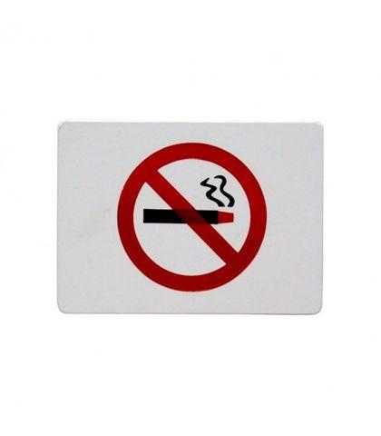 """No Smoking Symbol"" Wall Sign - Red On White - Chef Inox"