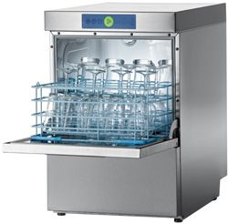 HOBART GC-PROFI Compact Glasswasher with One 4 Division Rack and insert to support 17×14? racks