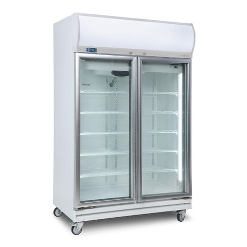 BROMIC Upright Double Glass Door Chiller LED 976L