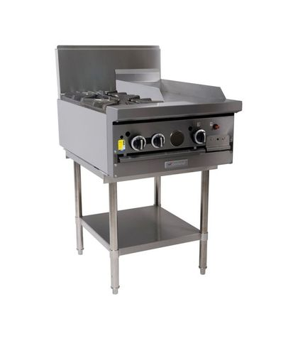 Garland HD Restaurant Series - 2 Open Burners And 300mm Griddle - Natural Gas (600mm Wide)