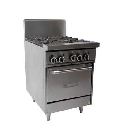 Garland HD Restaurant Series - 4 Open Burners And Oven - Natural Gas (600mm Wide)