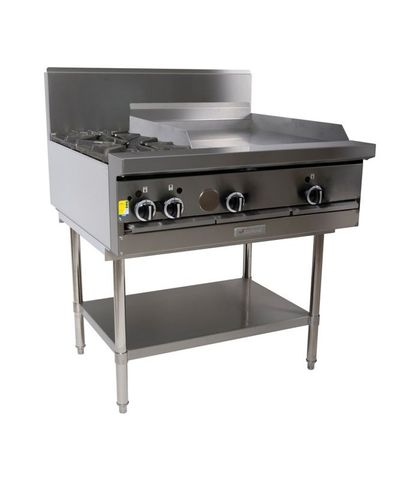 Garland HD Restaurant Series - 2 Open Burners And 600mm Griddle - Natural Gas (900mm Wide)