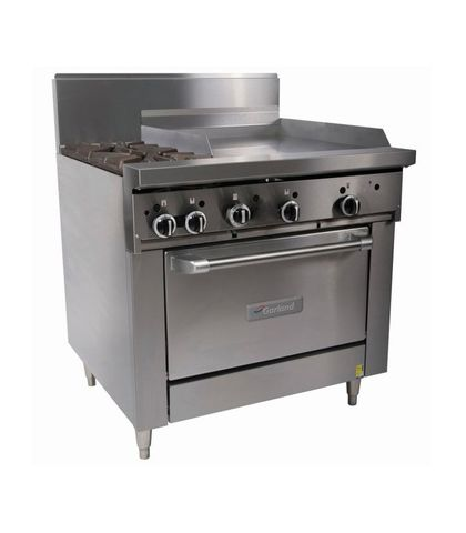 Garland HD Restaurant Series - 2 Open Burners, 600mm Griddle And Oven - Natural Gas (900mm Wide)