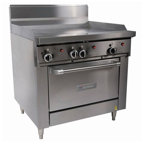 Garland Restaurant Range 900mm Wide Griddle w Oven Nat Gas
