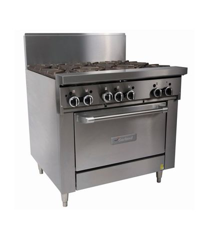 Garland HD Restaurant Series - 6 Open Burners And Oven - Natural Gas (900mm Wide)
