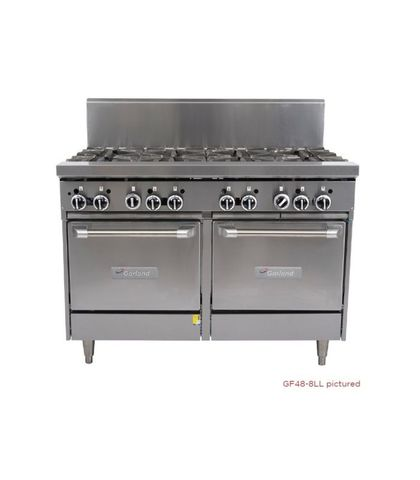 Garland HD Restaurant Series - 4 Open Burners, 600mm Griddle And 2 Ovens - Natural Gas (1200mm Wide)