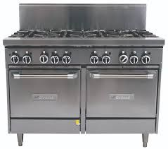 Garland Restaurant Range 1200mm Wide 8 Burner w 2 Ovens NG