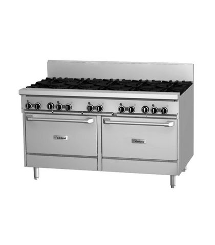 Garland HD Restaurant Series - 10 Open Burners And 2 Ovens - Natural Gas (1500mm Wide)