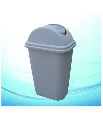 24L Dustbin with Lid Grey 380x280x520mm
