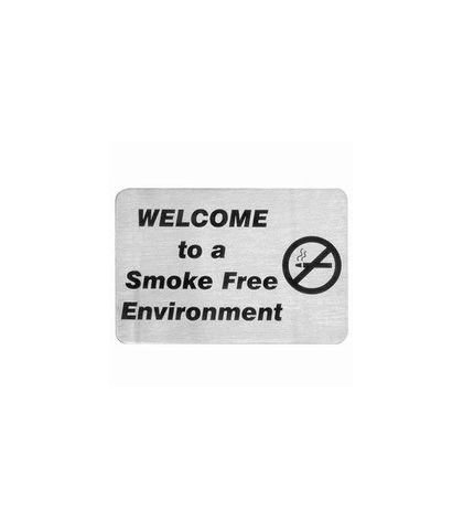 Wall Signs 18/10 Welcome to a Smoke Free Environment