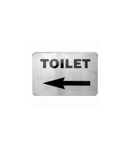 Wall Signs 18/10 Toilet with Left Arrow