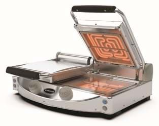 Spidocook Double Contact Grill Transparent Flat Top Bottom 2x250x250mm plate
