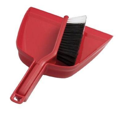 Oates Dustpan & Bannister Set Red