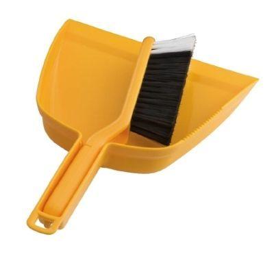 Oates Dustpan & Bannister Set Yellow