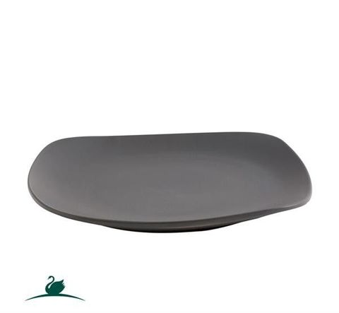 Square Coupe Plate 192x192mm CAMEO Dark Grey