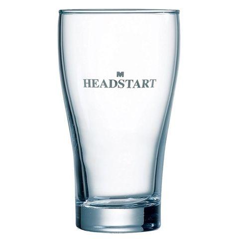 ARCOROC GLASS BEER CONICAL HEADSTART 285ML TEMPERED CERTIFIED 48/CTN