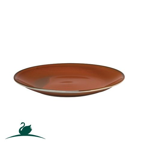 Round Coupe Plate 260mm CAMEO Brown