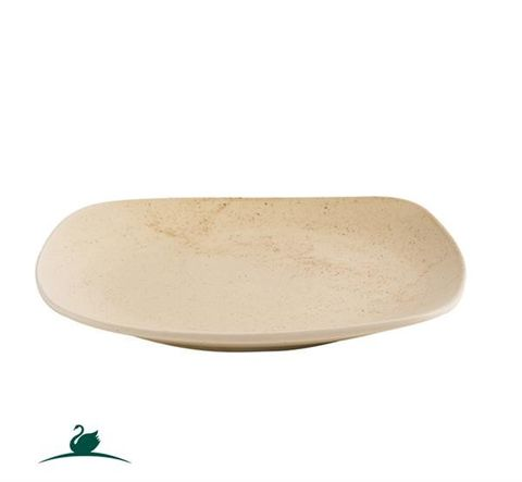 Square Coupe Plate 192x192mm CAMEO Sand