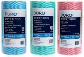 Duro Wiper Roll Heavy Duty Green 50cm x 30cm (4 rolls)