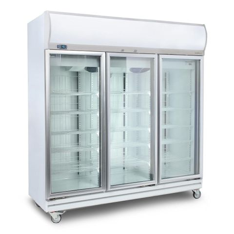 BROMIC Flat Glass Door 1507L LED Upright Display Chiller