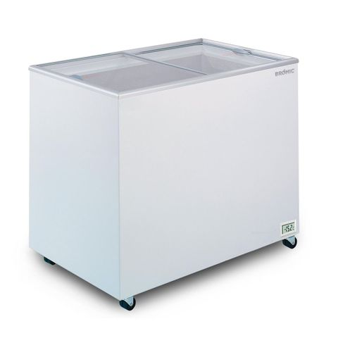 BROMIC Flat Glass Top 296L Display Chest Freezer