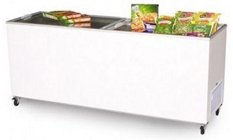 BROMIC Flat Glass Top 670L Display Chest Freezer