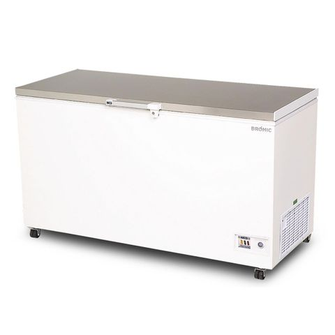 BROMIC Flat Top Stainless Steel 492L Storage Chest Freezer