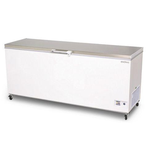 BROMIC Flat Top Stainless Steel 675L Storage Chest Freezer