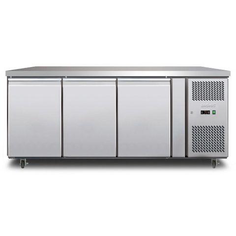 BROMIC Three Solid Door Underbench Storage Freezer 417L LED