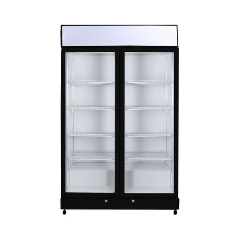BROMIC Flat Glass Door LED Upright Display Eco Chiller