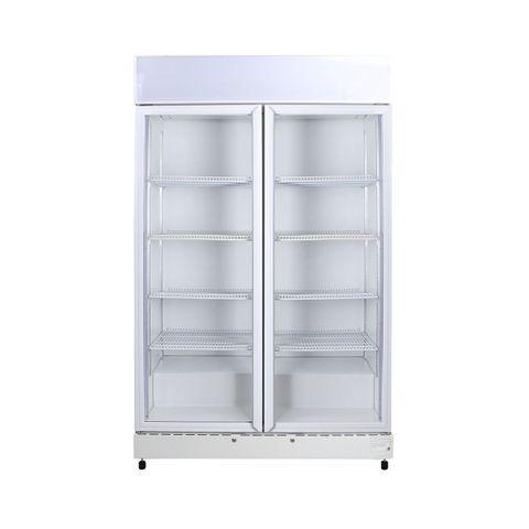 BROMIC Flat Glass Door 960L LED Upright Display Eco Chiller