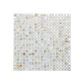 Solid Shell Mosaic Tile - Freshwater Mother of Pearl Natural Square