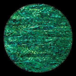 SHELL VENEER COATED - PAUA EMERALD GREEN - 130*230MM