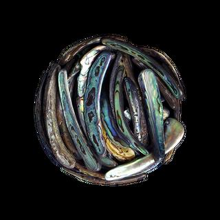 SHELL PIECES PAUA SATIN - RIMS MEDIUM 40-80MM - 1KG