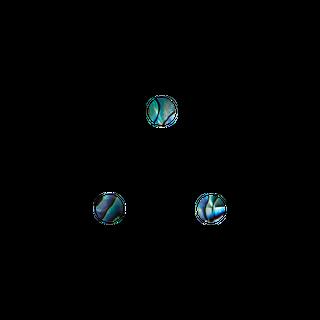 SHELL VENEER SHAPE - PAUA - CIRCLE - 5MM (60PCS) (P&S)
