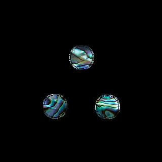 SHELL VENEER SHAPE - PAUA - CIRCLE - 8MM (60PCS) (P&S)