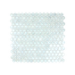 Solid Shell Mosaic Tile - Freshwater Mother of Pearl White Circle