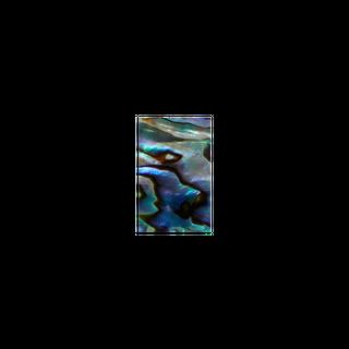 SHELL VENEER SHAPE - PAUA - RECTANGLE - 12.5*20MM (15PCS)