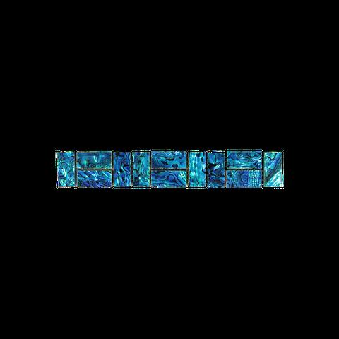 SHELL VENEER TILE - PAUA BLUE SAPPHIRE - RANDOM BRICK (12PC)