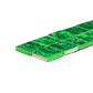 SHELL VENEER TILE - PAUA EMERALD GREEN - MOSAIC 25*25 (14PC)