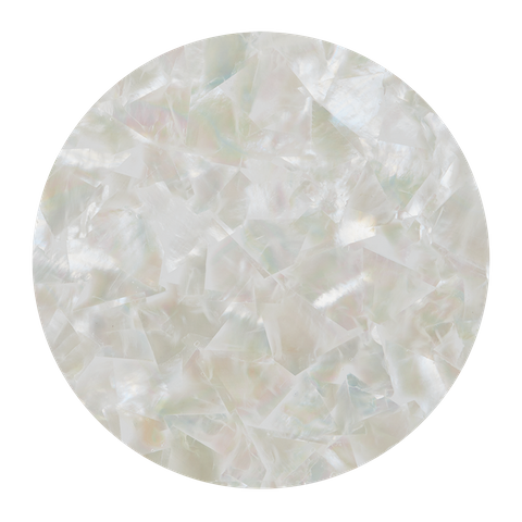 White Mother of Pearl Natural Mosaic - Matt Coated