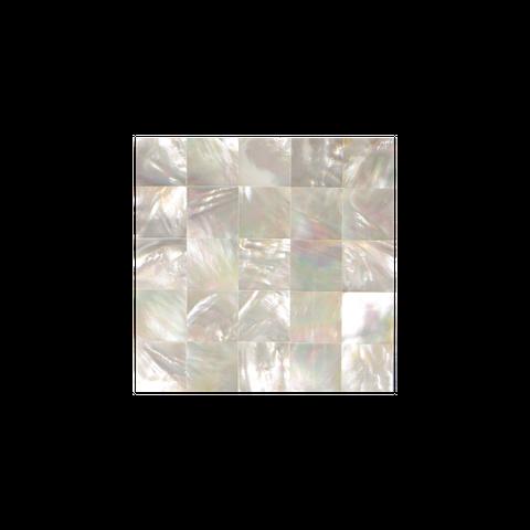 Shell Veneer Tile - White Mother of Pearl Square