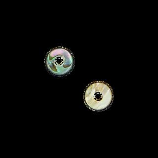 SHELL BEAD - PAUA DONUT CHUNKY - SMALL 8MM (48PCS)