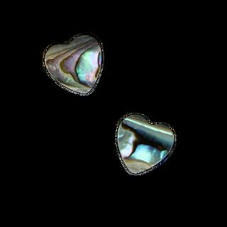 SHELL BEAD - PAUA HEART - 12MM (34 PER STRAND)