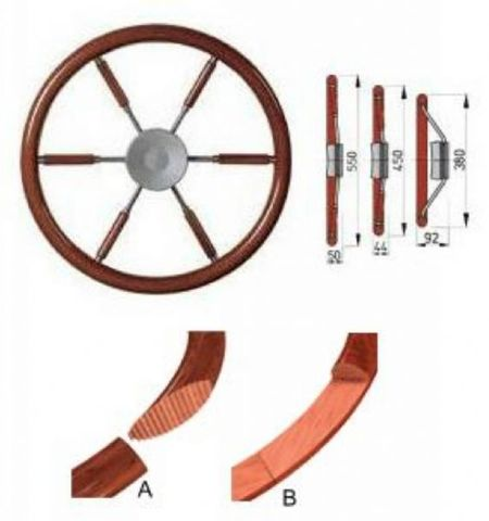 Vetus Mahogany Steering Wheel