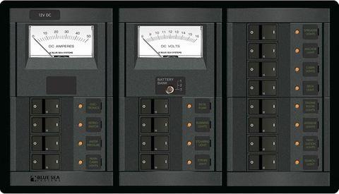 Blue Sea 360 Circuit Breaker and Meter Panel