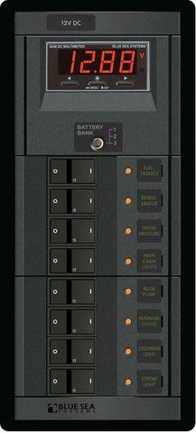 Blue Sea 360 Circuit Breaker Panel with Voltmeter